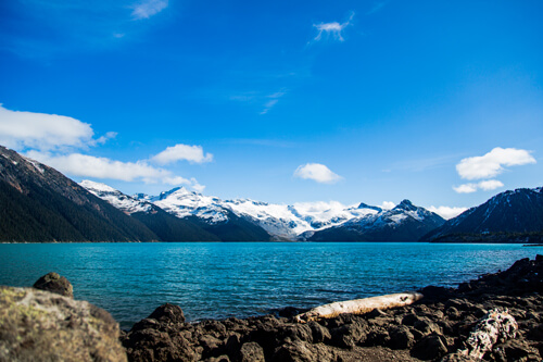 The spectacular Garibaldi Lake in the Garibaldi provincial park