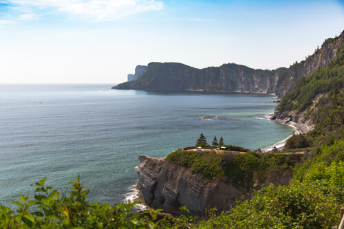 View on the Cap des rosiers from cap bon ami in the forillon national park