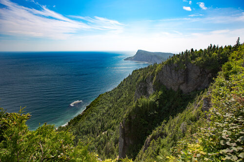 Another angle of the incredible view you have while hiking up the Cap-Bon-Ami trail in the Forillon National Park