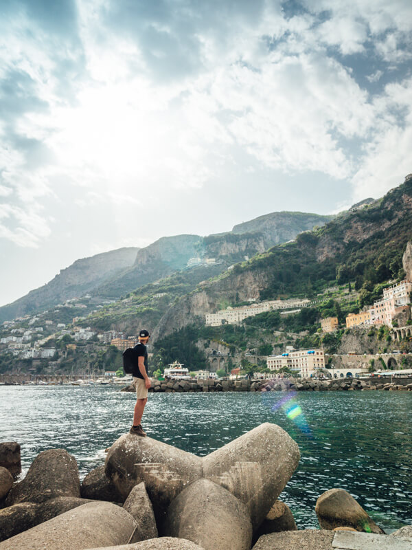 Benoit Chamberland taking in the view in Italy